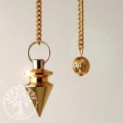Metall Pendel goldfarben 1