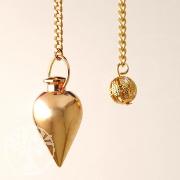 Metall Pendel rund goldfarben 2