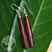 Earring with Rosewood