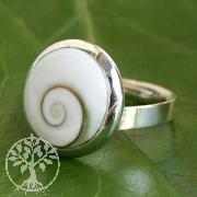 Shiva-Muschel Ring 4  Runder Silberring 925