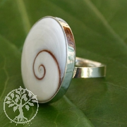 Shiva Muschel Ring 7  925