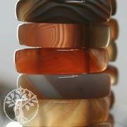 Achat A+ Armband aus Natur Edelstein Achaten 25mm breit