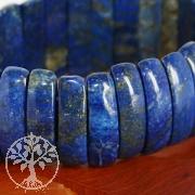 Lapislazuli Armband 25mm breites blaues Edelsteine Armband.