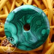 Malachit Donut Scheiben 30 bis 35 mm