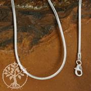 Silberkette Schlangenkette 1,2x45cm 925er Silber