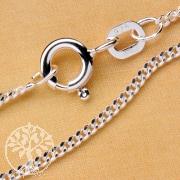 Curb Silver Chain 38 cm