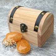 Holz- Schatztruhe klein