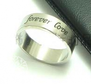 Edelstahl-Ring ER215 Forever Love