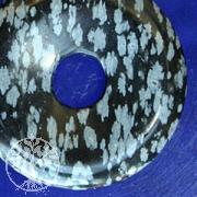 Schneeflocken Obsidian Donut 40mm
