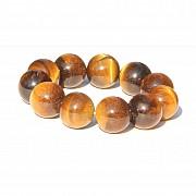 Tigerauge Armband 20mm Perlen Kugel Perlen Armband große Tigeraugeperlen