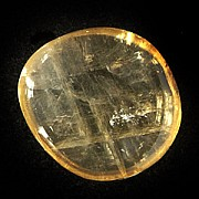 Calcit Gelb Doppelspat flach transparent Chakrastein A