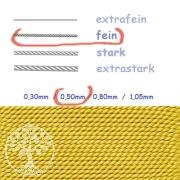 Perlseide gelb 0,50mm fein