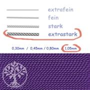 Perlseide amethystfarben 1,05mm extrastark