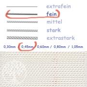 Perlseide Weiß 0,45mm fein