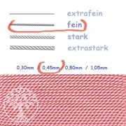 Natural Silk dark pink 0,45mm
