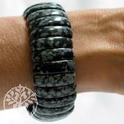 Schneeflocken Obsidian Armband