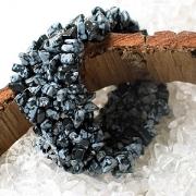 Schneeflocken-Obsidian Armband für schmale kleine Arme