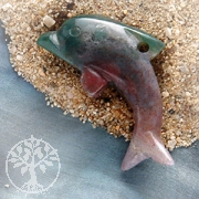 Moss Agate India Dolphin Big