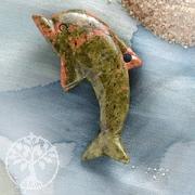 Unakite/Epidot Dolphin Big
