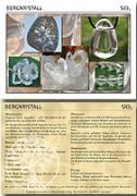 Bergkristall Edelsteinkarte 100 Stück