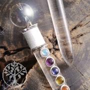 Heilstab Zauberstab mit 7 Chakra - Edelsteinen
