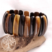 Tigerauge - Onyx  Armband 35mm Perlen