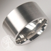 Breiter Edelstahl-Ring ER113 15-er Pack