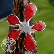 Red Coral Ring 6