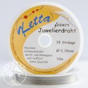 Ketta Schmuckdraht 0,35mm, 19 Stränge, edelstahlfarben