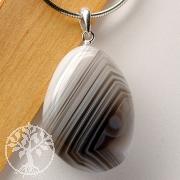 Achat Anhänger mit Öse Silber 925 A Silber Edelsteinanhänger Achatstein