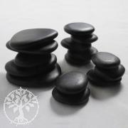 Hot Stones Massagesteine, Basisset 10 kleine Steine & 5 mittlere flache Steine