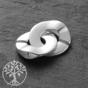 Round Clasp Sterlingsilver, Ring-Ring C Clasp 2*15mm