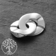 Ring-Ring Verschluss Silber 925 glänzend 15/26mm C Schliesse
