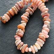 Opal Pink Gemstone-Beads Button Nature 40cm Strand