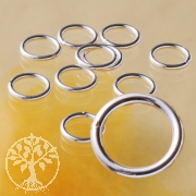 Jumpring 7x1.0 mm closed strong Sterlingsilver Ring