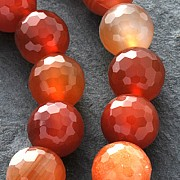 Gamelian Gemstone-Beads Round Faceted 40cm/10mm