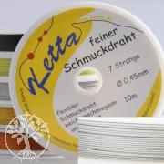 Schmuckdraht 0,45mm, weiß, 7 Stränge, Ketta