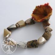 Edelstein Perlen, Antik Jaspis, flaches Rechteck big