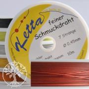 Roter Schmuckdraht 0,45mm, 7 Stränge