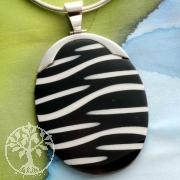 Zebra-Muschel Anhänger mit Silber 8