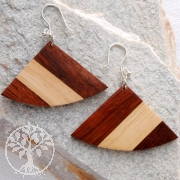 Holz-Ohrhänger Silberhaken 925