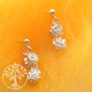 Silber-Ohrringe Rose