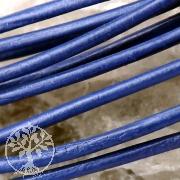 Lederband Ziege rund 1,5mm blau