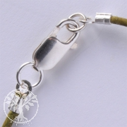 Leatherstring Clasp, Silver 925, Set 1 to 1.5mm Leather String.