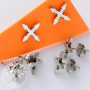 Edelstahl Ohrstecker Kreuz 2 - 3 Stück