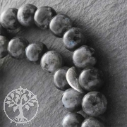 Gemstone-Beads, Labradorite Black, 8 mm