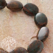 Gemstone-Beads, Opal, flat olive