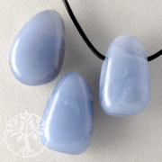 Chalcedon Blau Anhänger BIG 3 Stück Ohne Bänderung