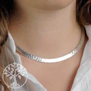 Silber Halsreif gehämmert 5,5 mm