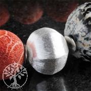 facettierte Silberperle, 925er Silber, 18 mm